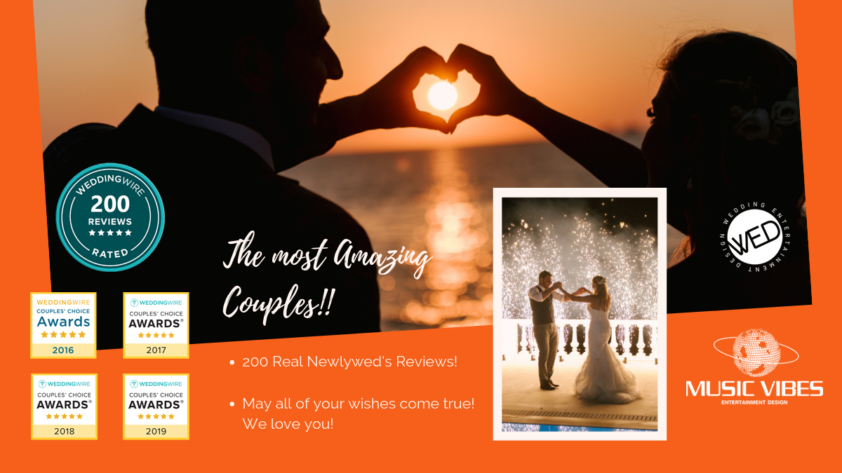Our new Success! We have reached, two hundred (200) Real Couple's Reviews on Wedding Wire